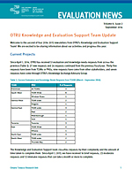 Knowledge & Evaluation Support Update Volume 8 Number 2