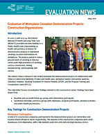 Evaluation of Workplace Cessation Demonstration Projects - Construction Organizations