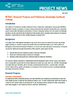Project News: RETRAC: Research Progress and Preliminary Knowledge Synthesis Findings