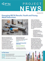 Emerging RECIG Results: Youth and Young Adult Interviews