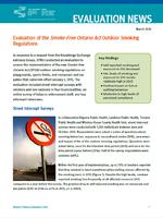 Evaluation of the Smoke-Free Ontario Act Outdoor Smoking Regulations