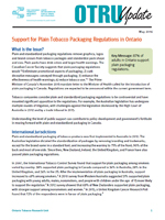 Support for Plain and Standardized Tobacco Packaging Regulations in Ontario